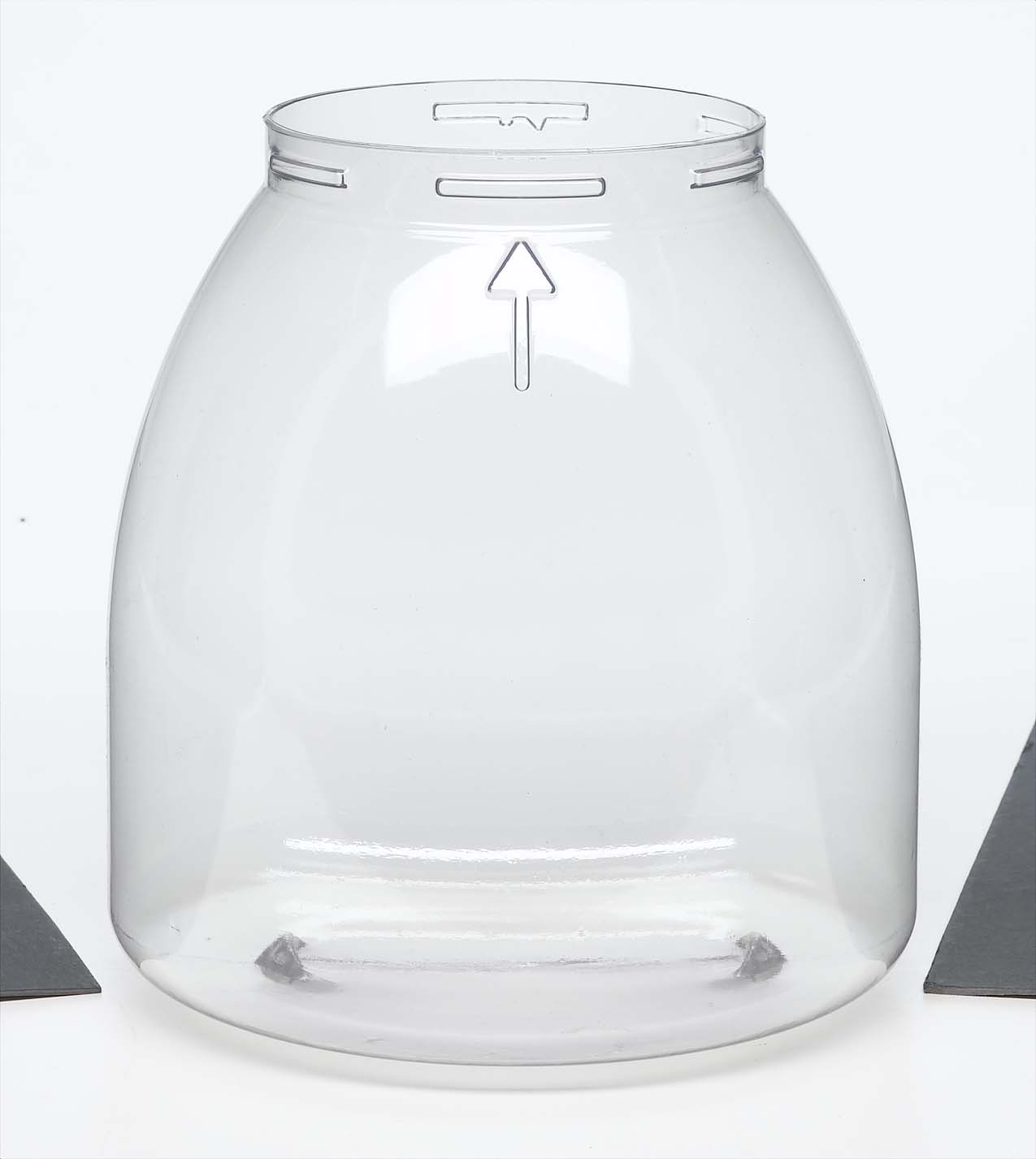 clear, round plastic blow molded specialty packaging