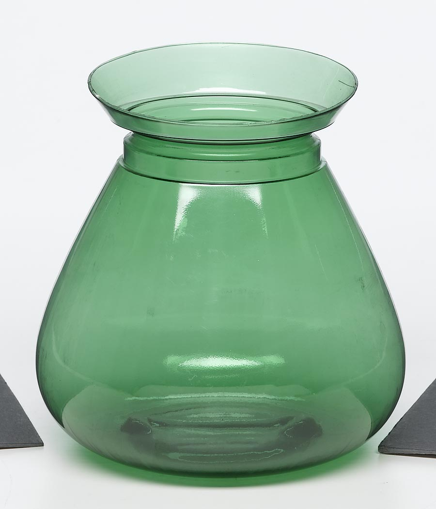 Out of the box products green clear plastic vase