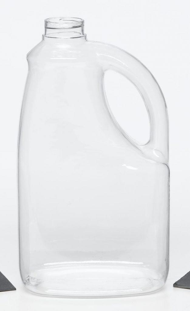PET clear plastic jug with handle and screw top