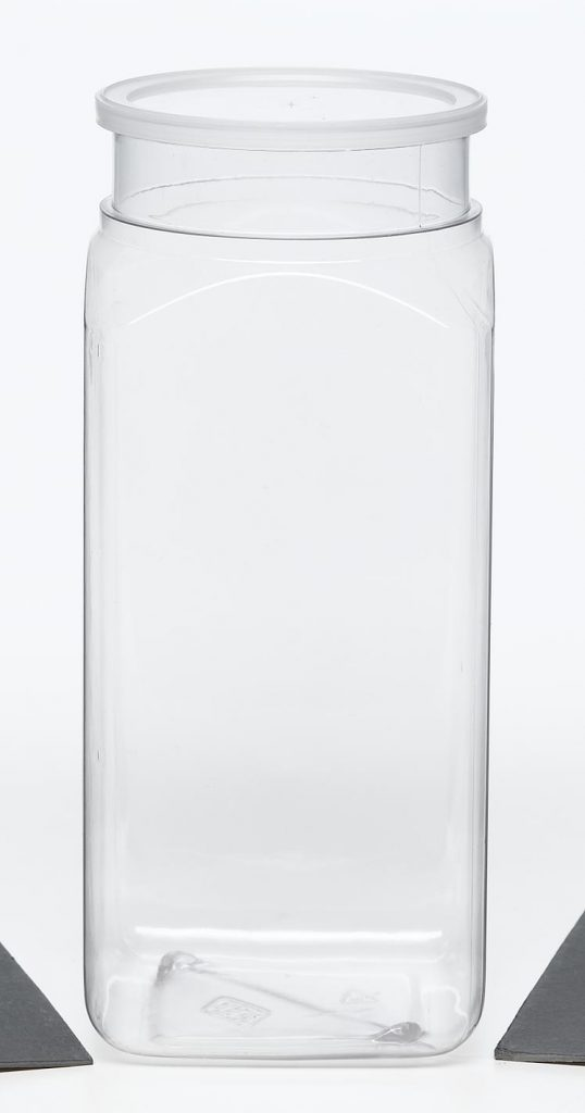 PET clear plastic jug with snap top