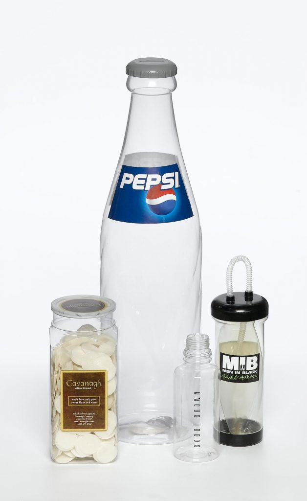 various clear containers with labels food safe