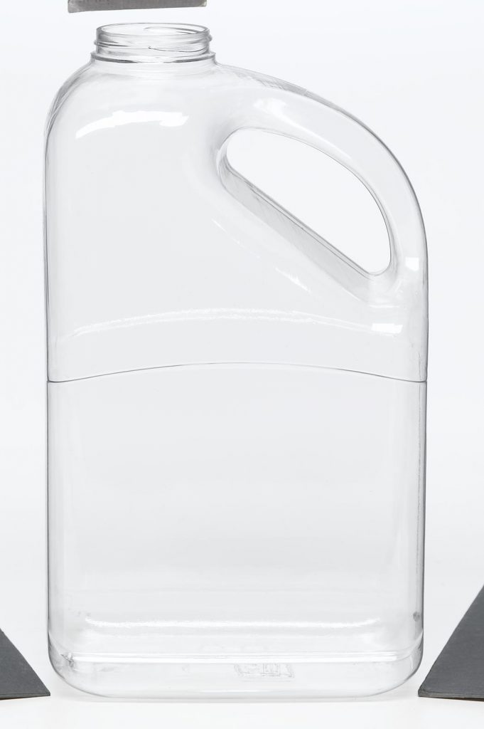 PET clear plastic jug with handle