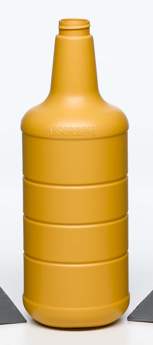 household chemicals yellow opaque plastic spray bottle