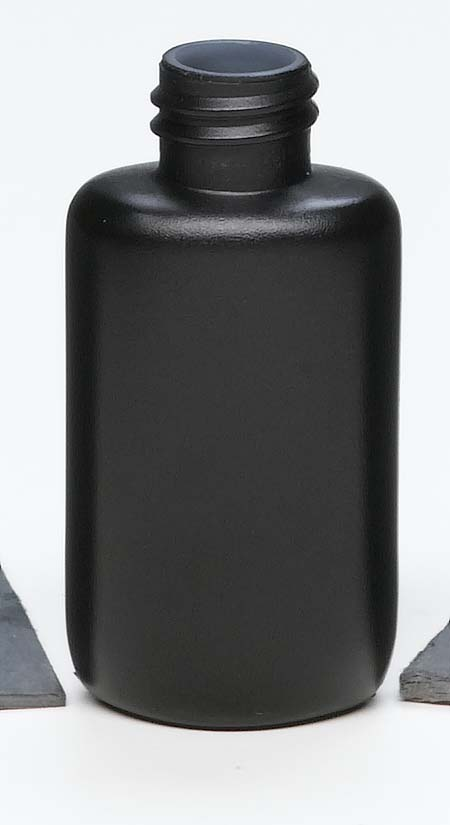 medical black opaque plastic bottle with screw top