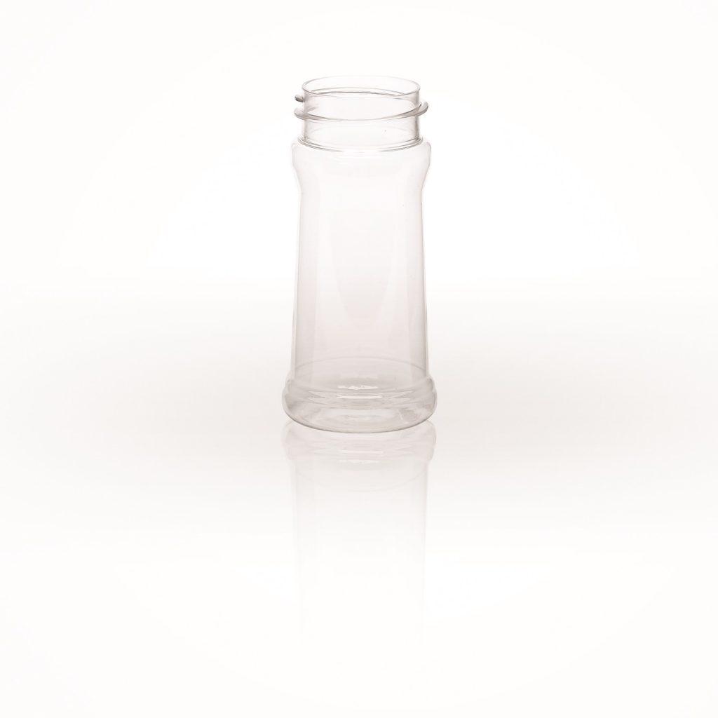 food and beverage clear plastic seasoning jar with screw top food safe