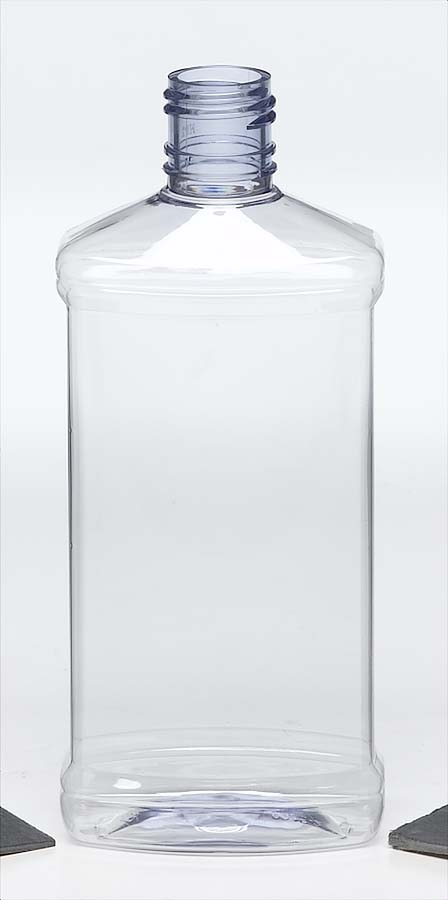 PET clear plastic bottle with screw top