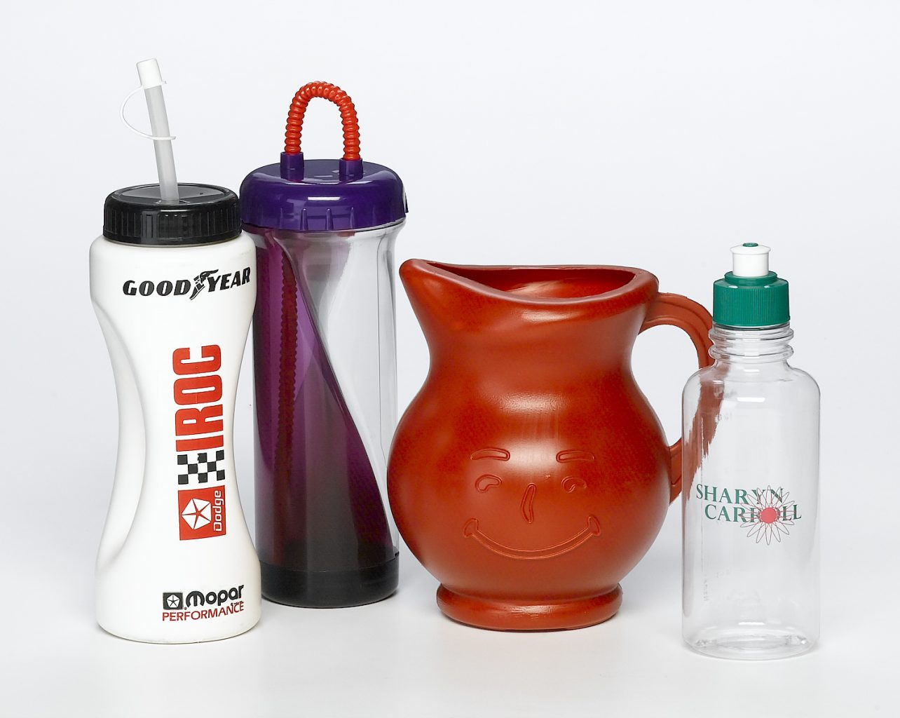 food and beverage various water bottles and a jug food safe